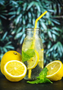 lemon water stay hydrated summer